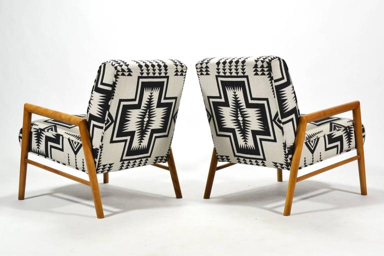 Leslie Diamond Pair of Lounge Chairs by Conant Ball 9