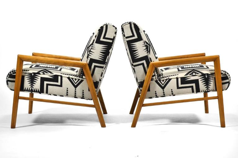Leslie Diamond Pair of Lounge Chairs by Conant Ball 10
