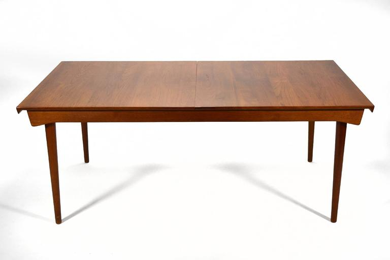 Finn Juhl Model 540 Solid Teak Extension Table 8