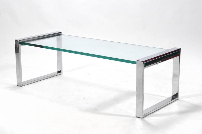 Cy Mann Chrome and Glass Coffee Table 2