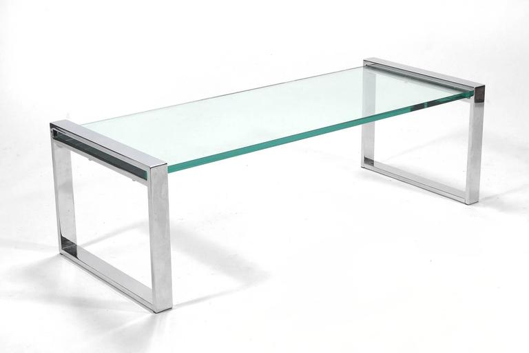 Cy Mann Chrome and Glass Coffee Table 4