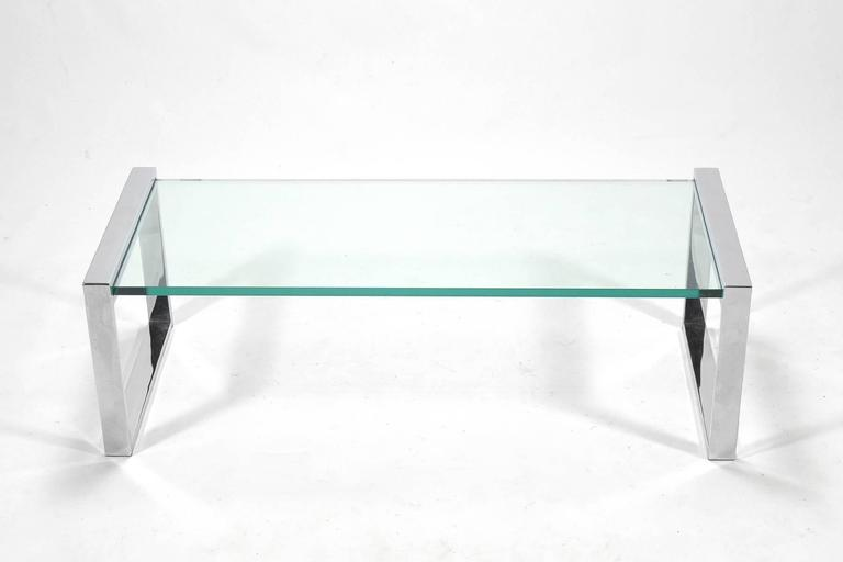 Cy Mann Chrome and Glass Coffee Table 5