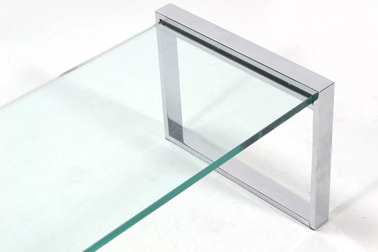 Cy Mann Chrome and Glass Coffee Table 6