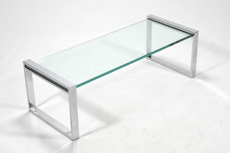 Cy Mann Chrome and Glass Coffee Table 7