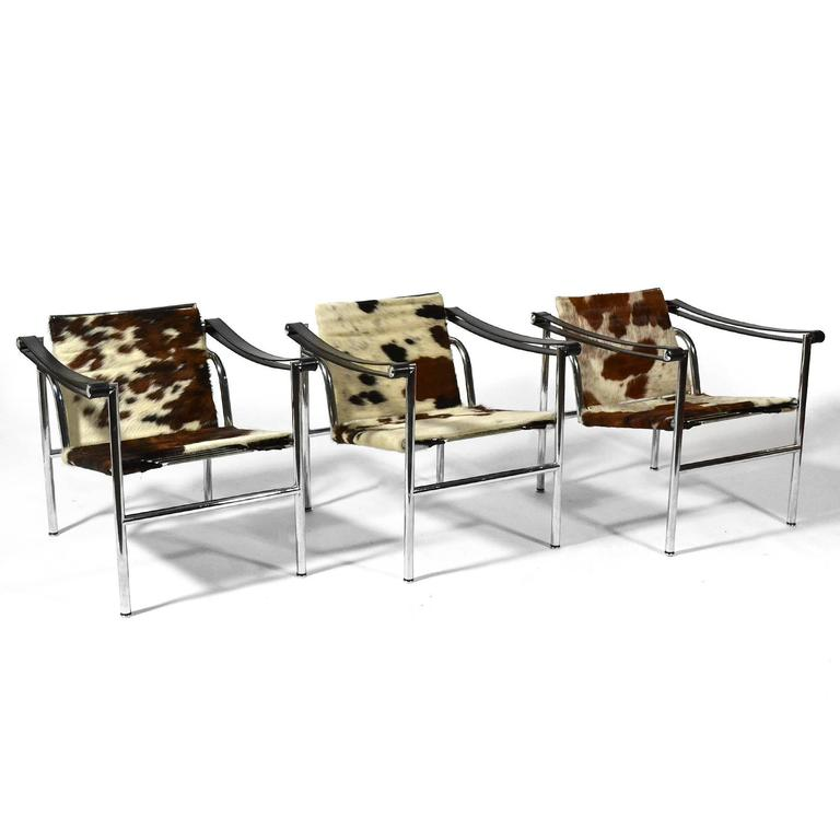 le corbusier lc1 lounge chairs by cassina at 1stdibs. Black Bedroom Furniture Sets. Home Design Ideas