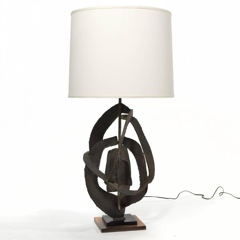 Harry Balmer Table Lamp with Brutalist Sculpture Base by Laurel For Sale 2