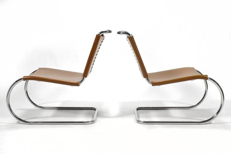 American Mies van der Rohe Pair of MR Lounge Chairs For Sale