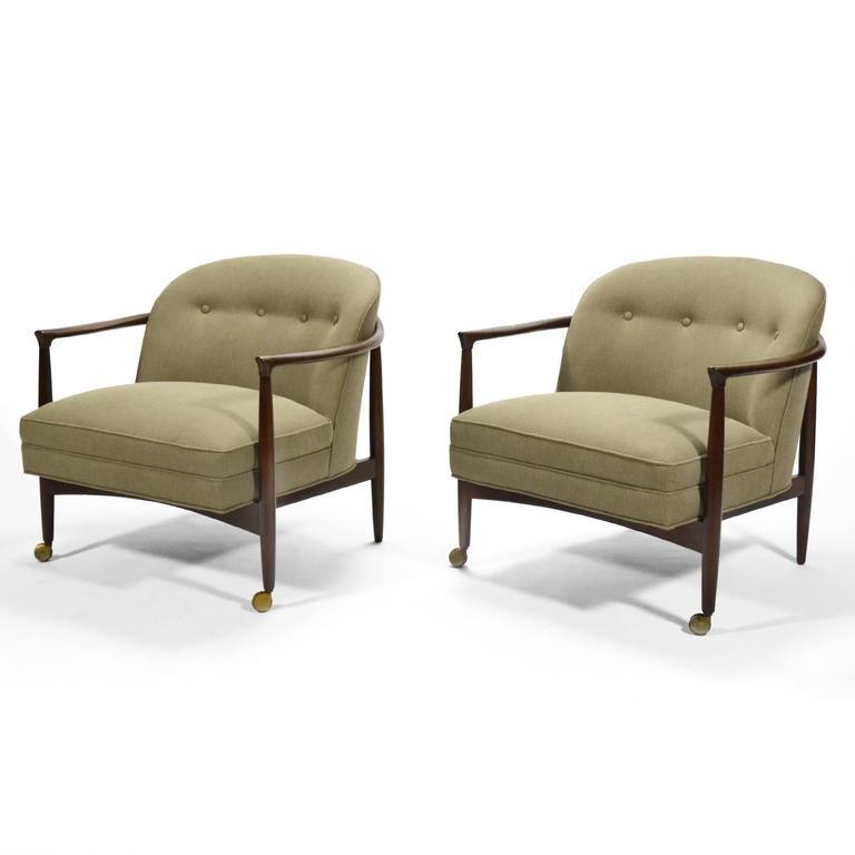 Scandinavian Modern Finn Andersen Barrel-Back Lounge Chairs For Sale