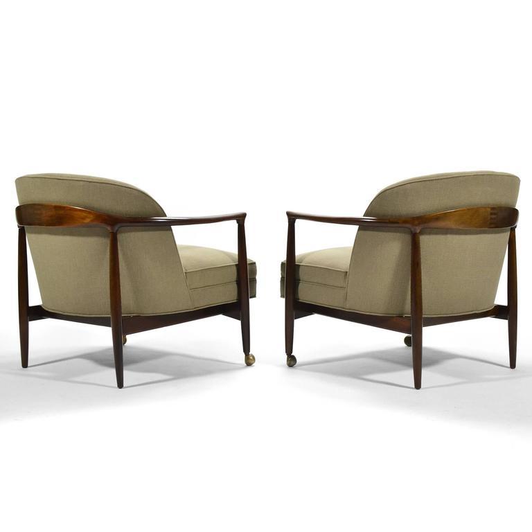 Danish Finn Andersen Barrel-Back Lounge Chairs For Sale