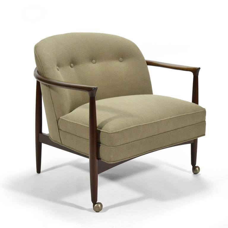Brass Finn Andersen Barrel-Back Lounge Chairs For Sale
