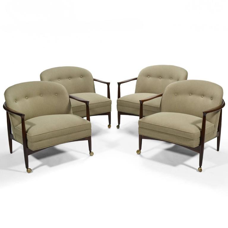 Ib Kofod-Larsen Barrel-Back Lounge Chairs 10