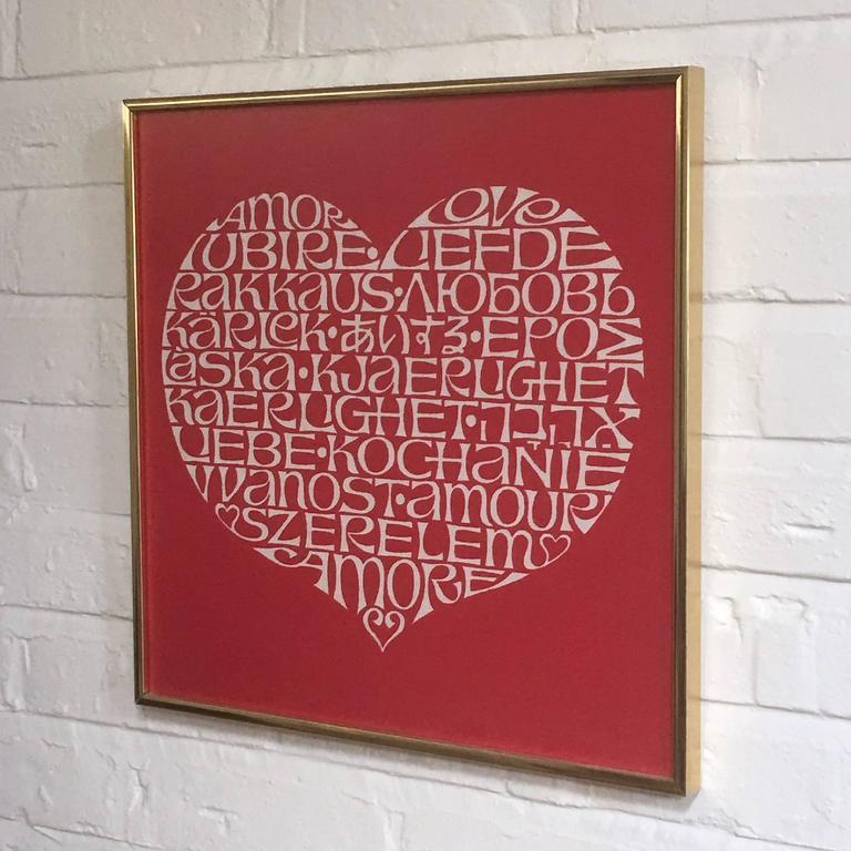 Cotton Alexander Girard International Heart Textile For Sale