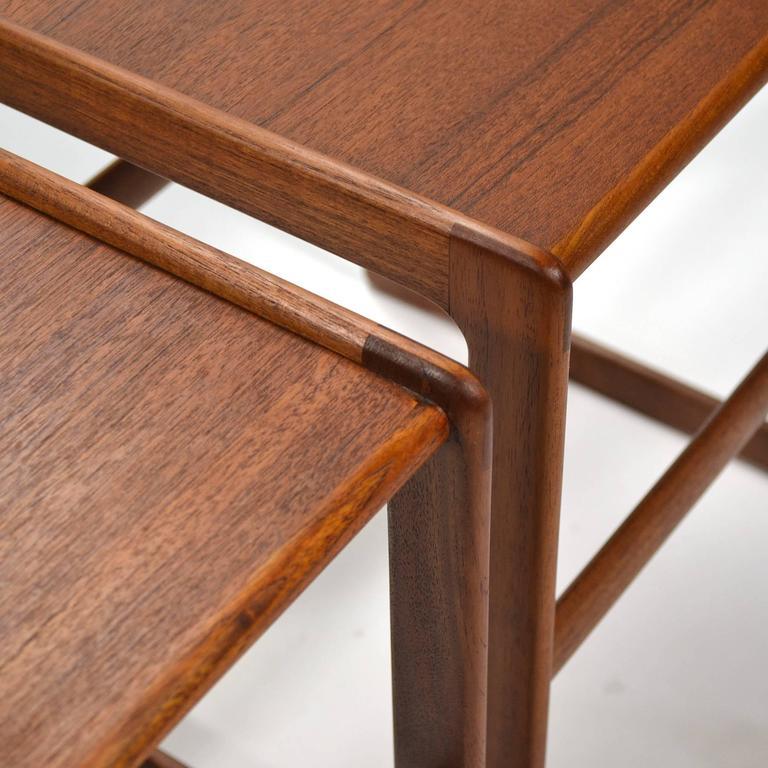 Mid-20th Century Arne Hovmand-Olsen Set of Teak Nesting Tables by Mogens Koch For Sale