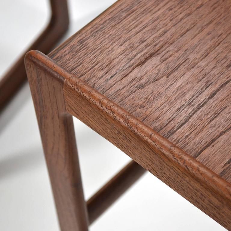Arne Hovmand-Olsen Set of Teak Nesting Tables by Mogens Koch 7