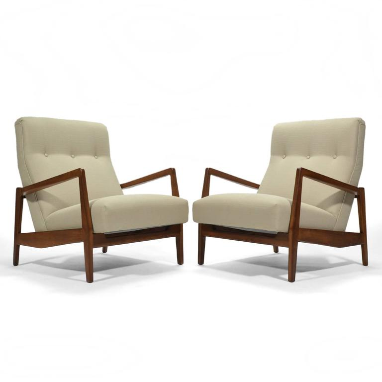 Jens Risom Pair of Lounge Chairs 9