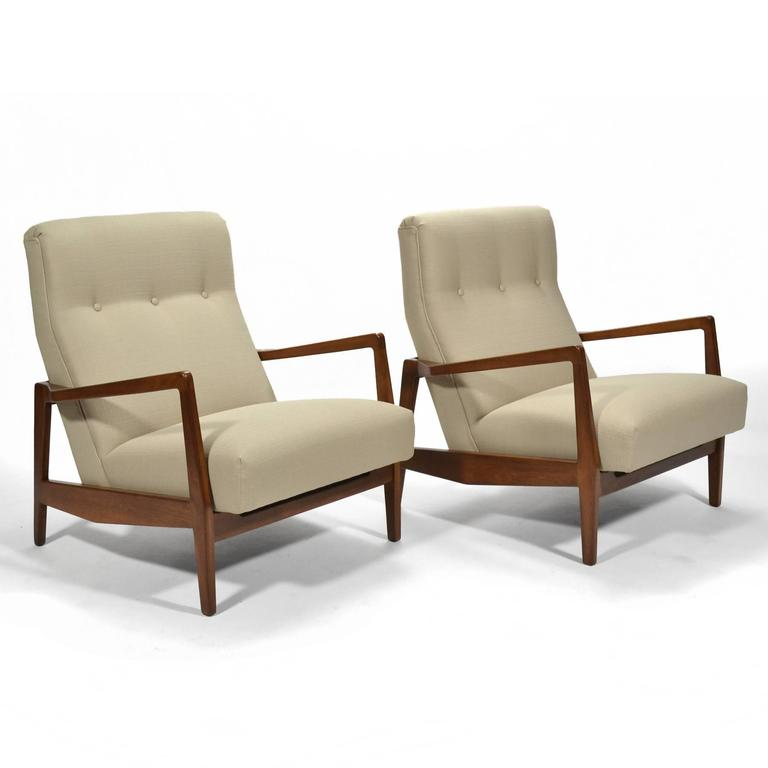 Jens Risom Pair of Lounge Chairs 10