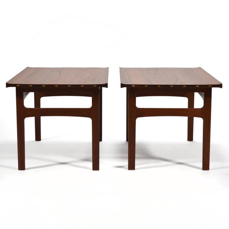 Apologies in advance if we gush about this pair of side tables by Tove and Edvard Klindt-Larsen. To us they are perfect examples of the finest of Scandinavian design. The overall form is understated, but when one pays attention to all the subtle
