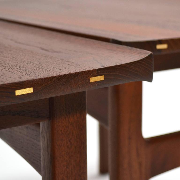 Tove & Edvard Klindt-Larsen Pair of Solid Teak Side or End Tables For Sale 2