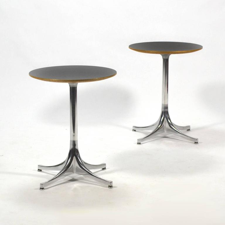 George Nelson Pair of Pedestal Side Tables by Herman Miller 2
