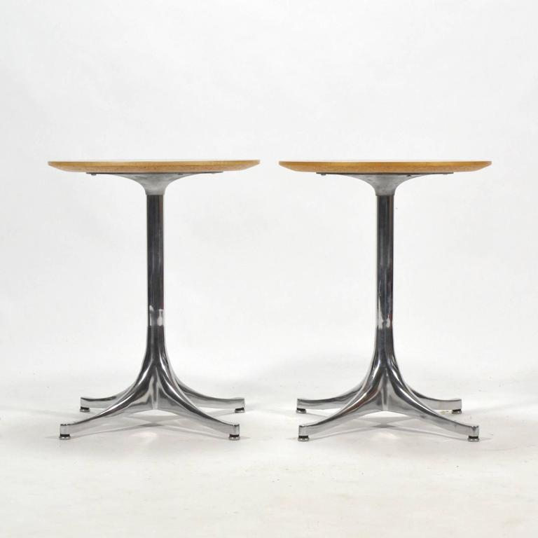 George Nelson Pair of Pedestal Side Tables by Herman Miller 3