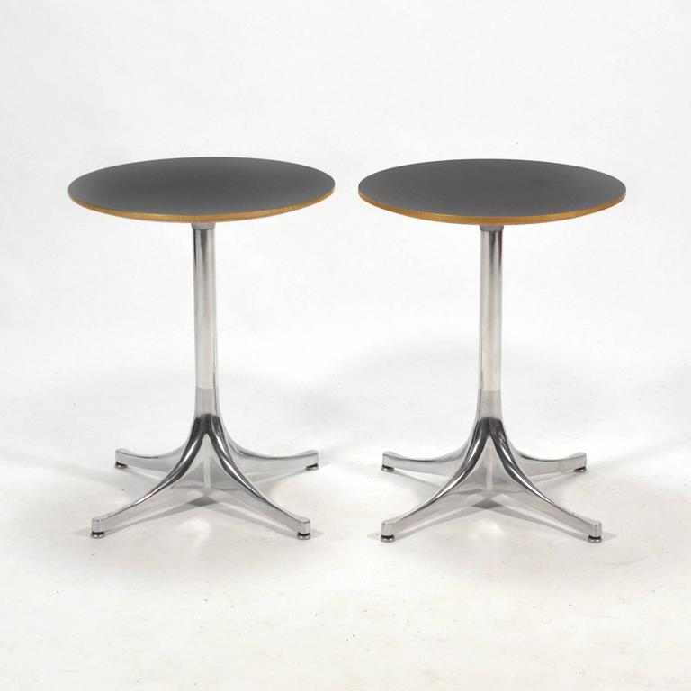 American George Nelson Pair of Pedestal Side Tables by Herman Miller For Sale