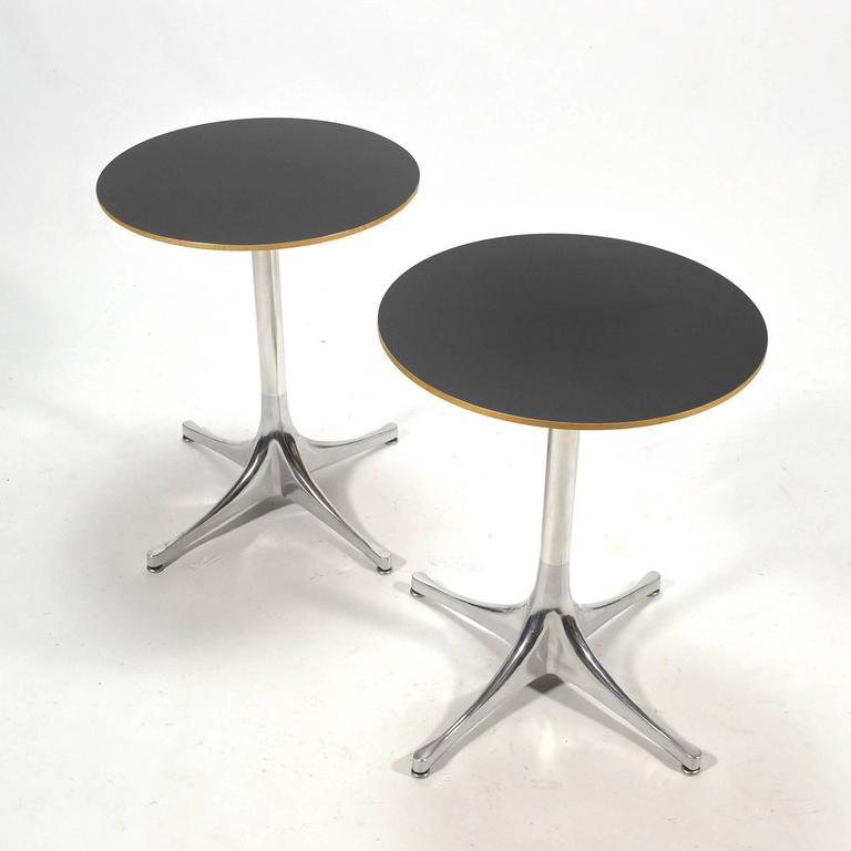 George Nelson Pair of Pedestal Side Tables by Herman Miller 5