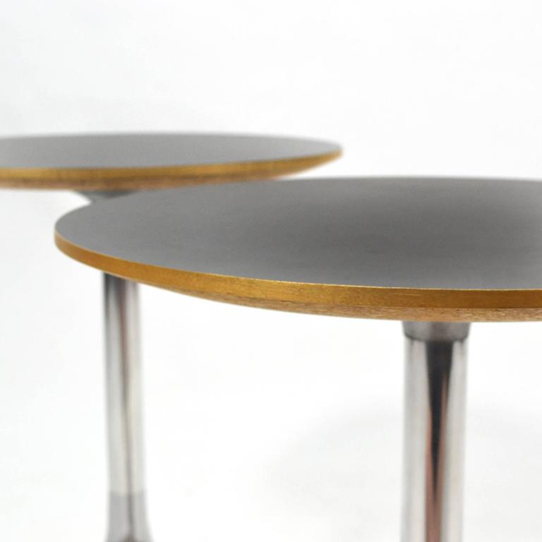 Mid-20th Century George Nelson Pair of Pedestal Side Tables by Herman Miller For Sale