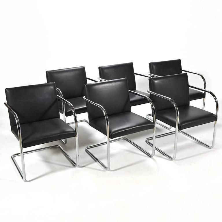 Mies Van Der Rohe Set of Six Brno Chairs 2