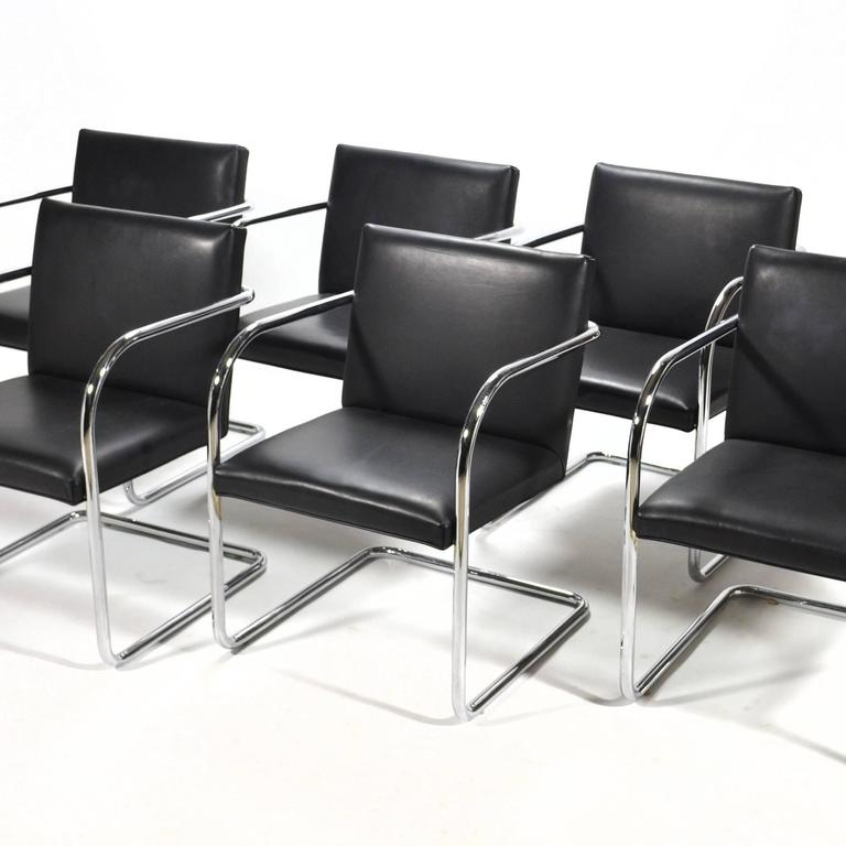 Mies Van Der Rohe Set of Six Brno Chairs 8