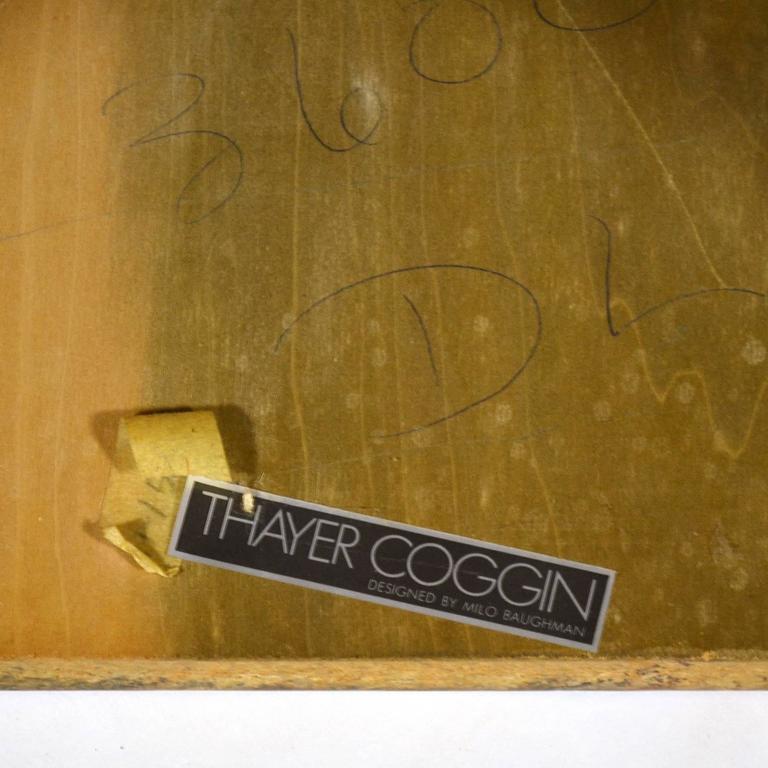 Late 20th Century Milo Baughman Burl Patchwork Pedestal/ End Table by Thayer Coggin For Sale