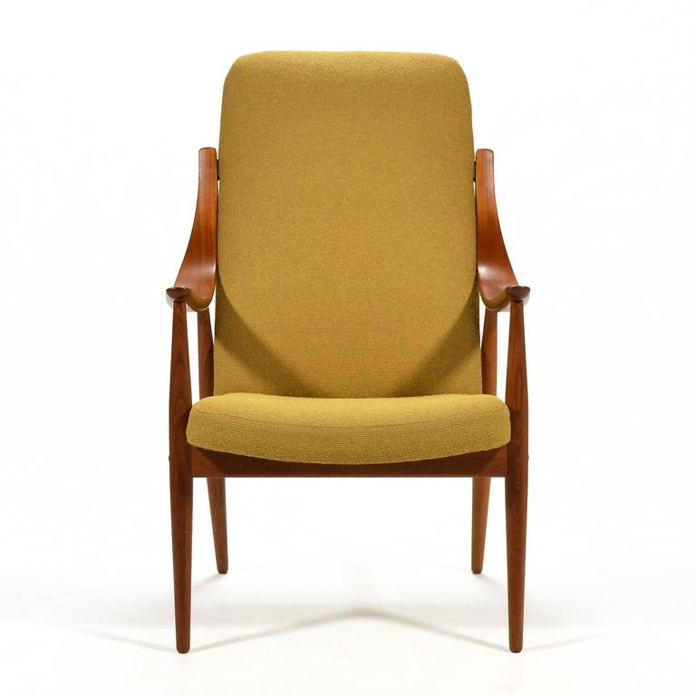 Scandinavian Modern Peter Hvidt & Orla Mølgaard-Nielsen High Back Easy Chair For Sale