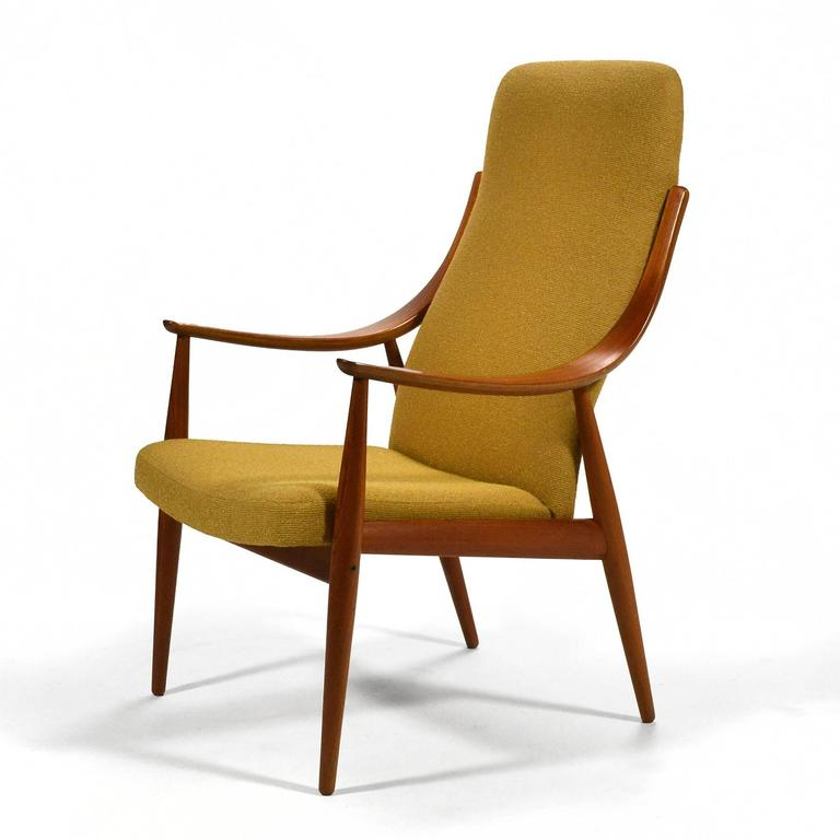 Danish Peter Hvidt & Orla Mølgaard-Nielsen High Back Easy Chair For Sale