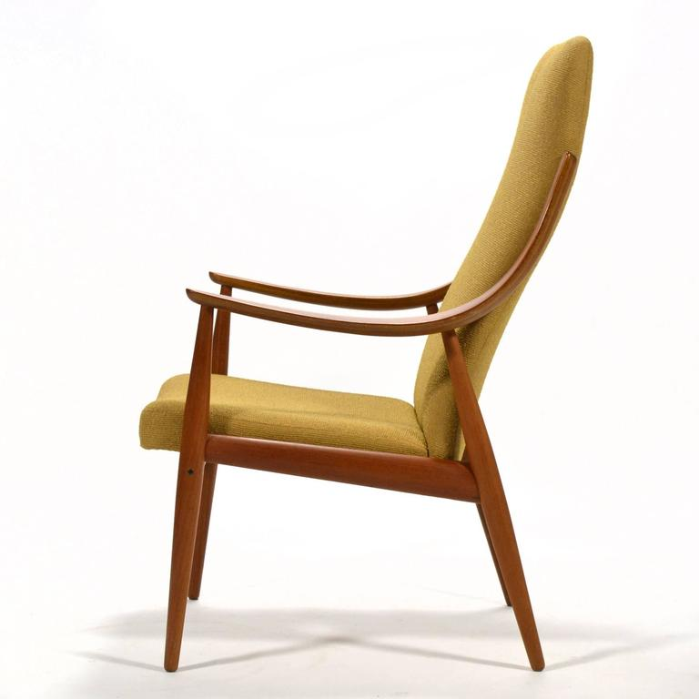 Peter Hvidt & Orla Mølgaard-Nielsen High Back Easy Chair In Good Condition For Sale In Highland, IN