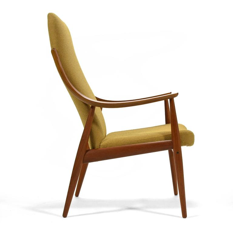Upholstery Peter Hvidt & Orla Mølgaard-Nielsen High Back Easy Chair For Sale