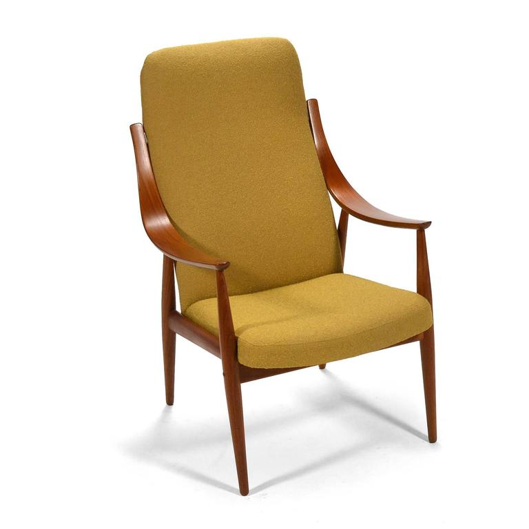 Peter Hvidt & Orla Mølgaard-Nielsen High Back Easy Chair For Sale 1