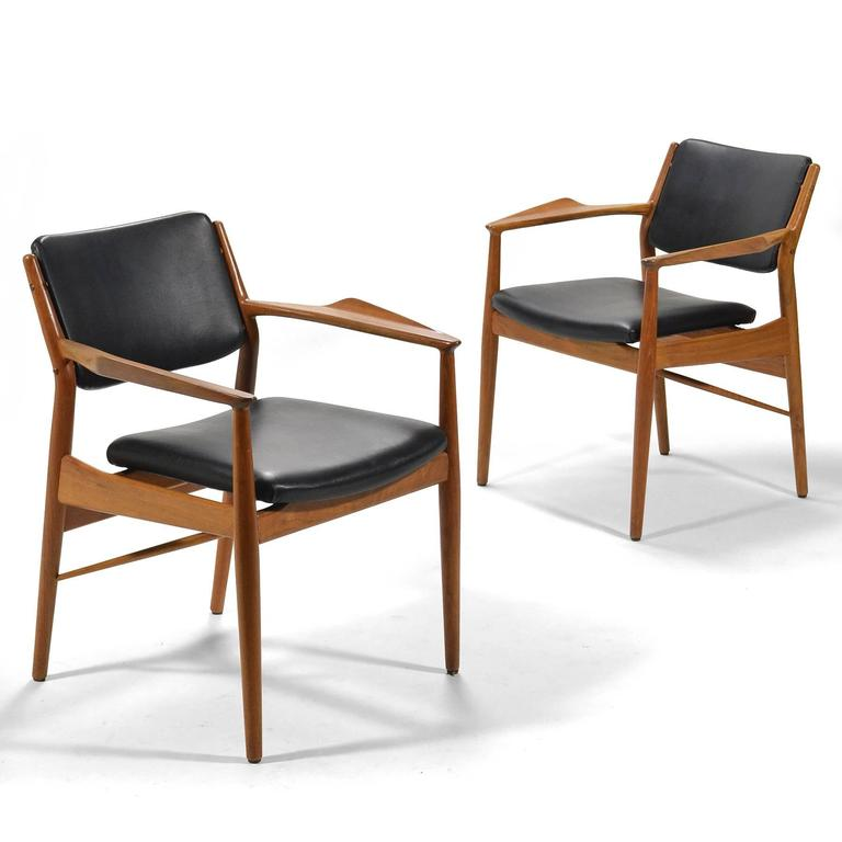 Scandinavian Modern Arne Vodder Armchairs by Sibast For Sale