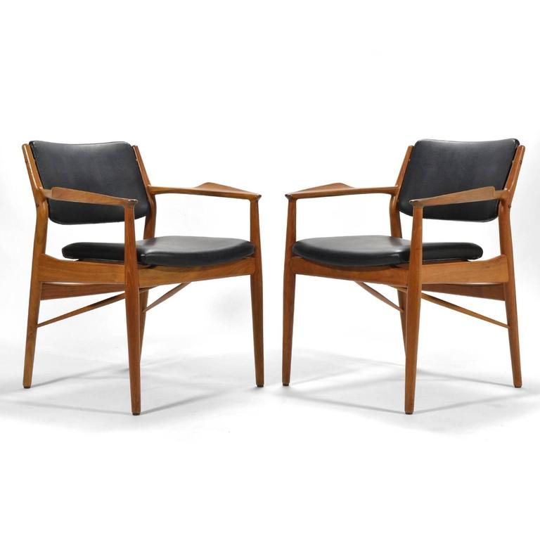 Danish Arne Vodder Armchairs by Sibast For Sale