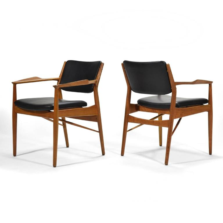 Mid-20th Century Arne Vodder Armchairs by Sibast For Sale