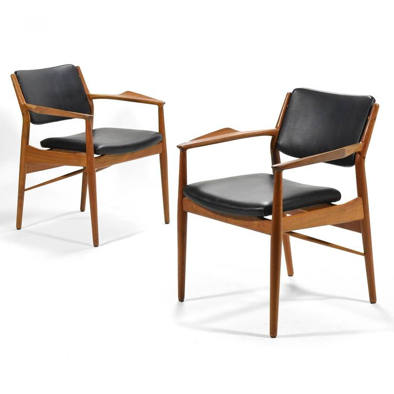Teak Arne Vodder Armchairs by Sibast For Sale