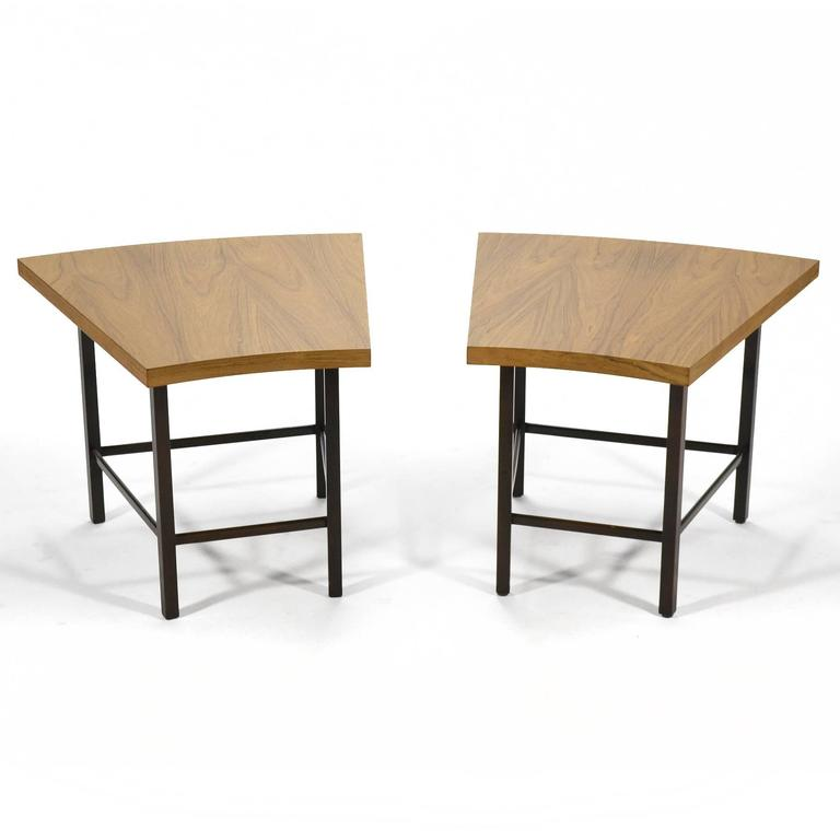 Mid-Century Modern Harvey Probber Pair of Trapezoidal Side or End Tables For Sale