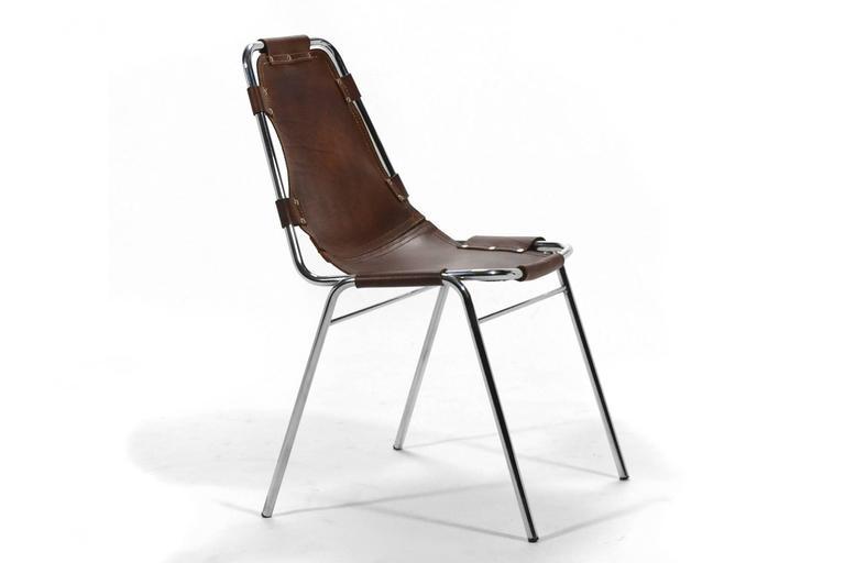 Set of Six Charlotte Perriand Les Arcs Chairs 3