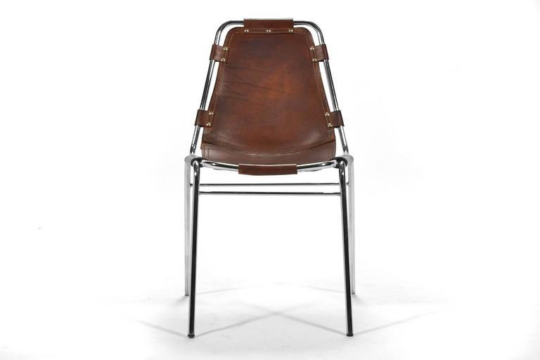 Set of Six Charlotte Perriand Les Arcs Chairs 4