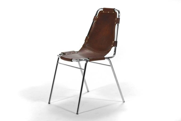 Set of Six Charlotte Perriand Les Arcs Chairs 5