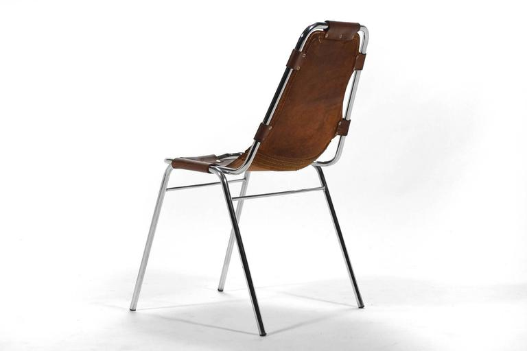 Set of Six Charlotte Perriand Les Arcs Chairs In Good Condition For Sale In Highland, IN