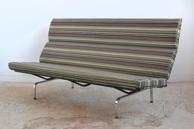 Eames Sofa Compact with Paul Smith Fabric by Herman Miller 4