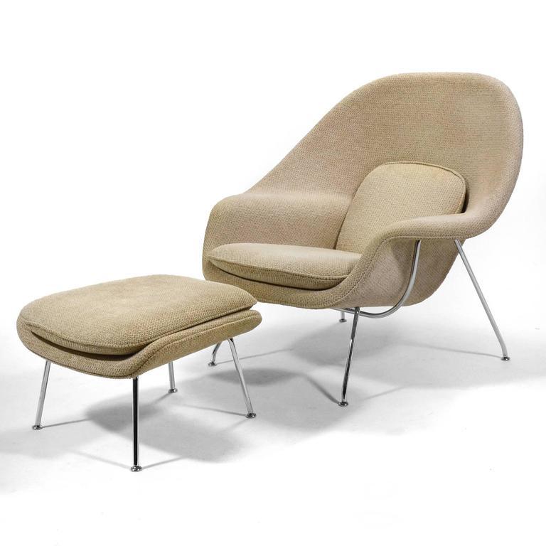 Eero Saarinen Womb Chair and Ottoman by Knoll 2