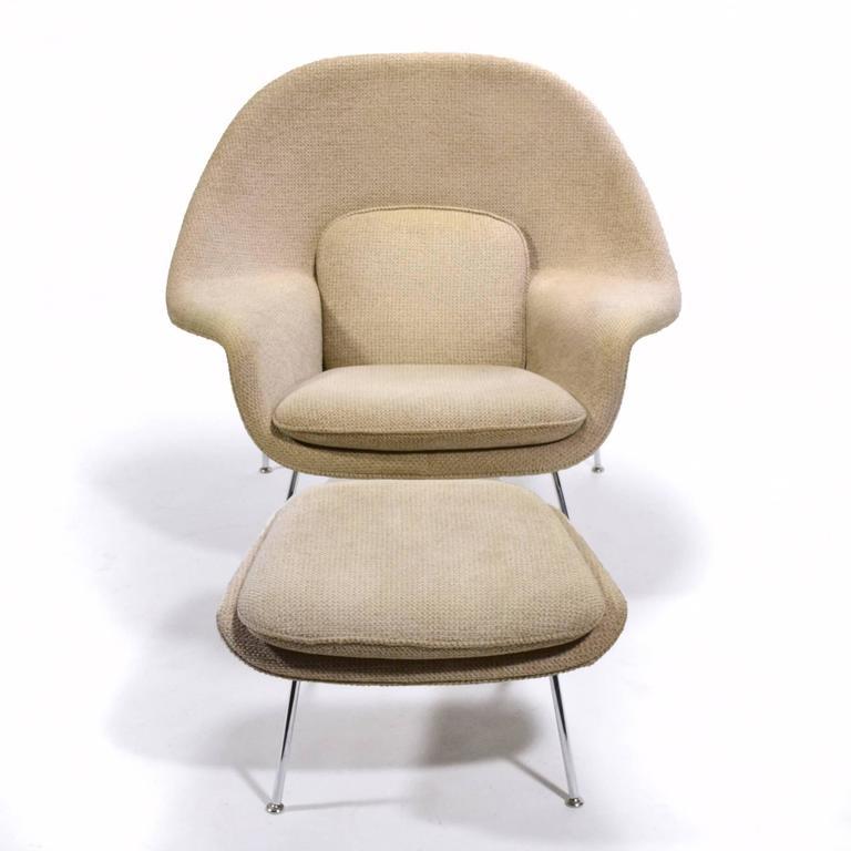 Eero Saarinen Womb Chair and Ottoman by Knoll 3