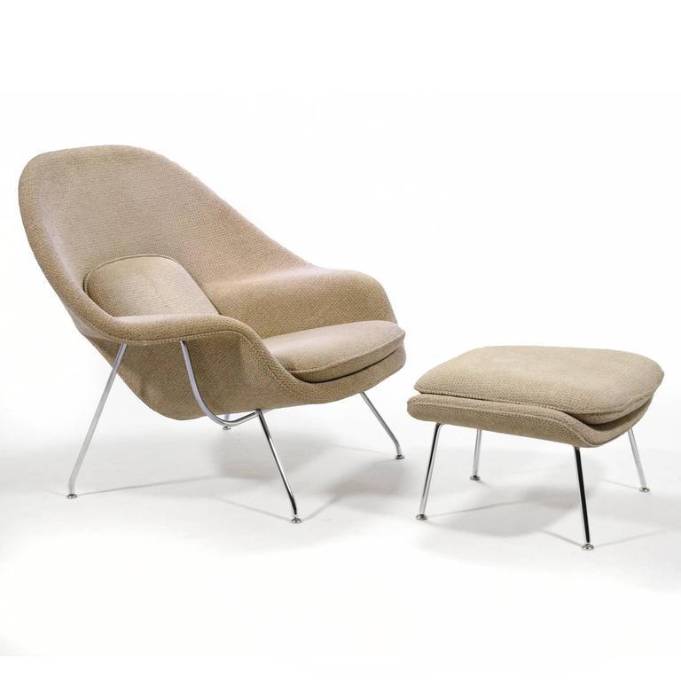 Eero Saarinen Womb Chair and Ottoman by Knoll 4