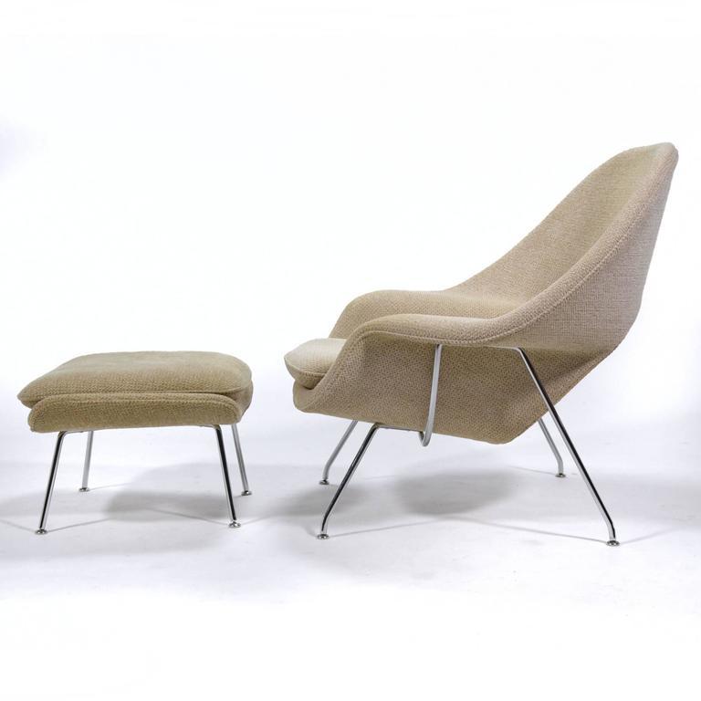Eero Saarinen Womb Chair and Ottoman by Knoll 5
