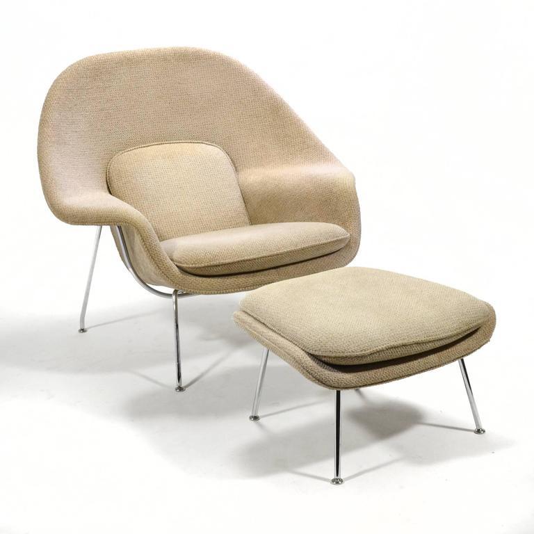 Eero Saarinen Womb Chair and Ottoman by Knoll 6